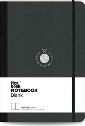 FlexBook 1 Esnek Not Defteri 17x24 cm Siyah Şeritli Çizgisiz