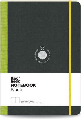 FlexBook 2 Esnek Not Defteri 17x24 cm Yeşil Şeritli Çizgisiz