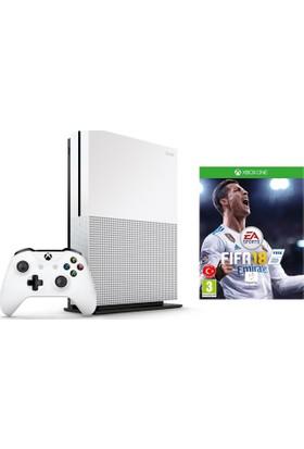 Microsoft Xbox One S 500 Gb 4K Oyun Konsolu + Fifa 18 Türkçe Metin (Microsoft Türkiye Garantili)