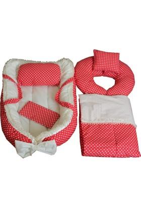 Baby Nest Bebek Yatak+Pike + Emzirme Destek +Emzirme Önlüğü Set