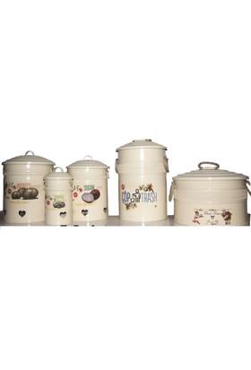 Yıldıray On Parça Mutfak Seti - Ekmek Kutusu + Çöp Kovası + Saklama Kabı Mtst5432321