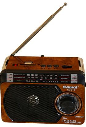 Kamal Ahşap Kasa USB SD FM Destekli MP3 Çalar Radyo Km 613