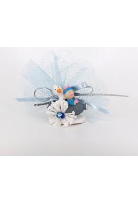 Beyaz Düşler Sokağı Bebek Şekeri 202 / 18 Lavanta / Mıknatıs (25 Adet)