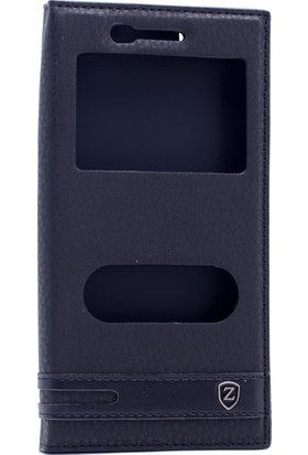 Etabibizde Vestel Venüs Z10 Kılıf Gizli Mıknatıslı Sentetik Kapaklı Elite+ Nano Cam