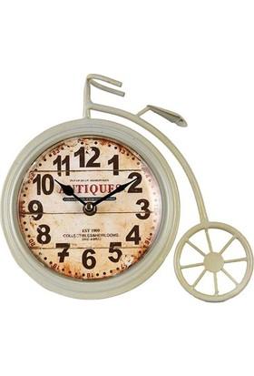 Time Gold Antik Bisiklet Şeklinde Masa Saati