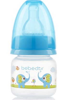 Bebedor Desenli Mini Biberon Yavaş Akış 60ml Mavi
