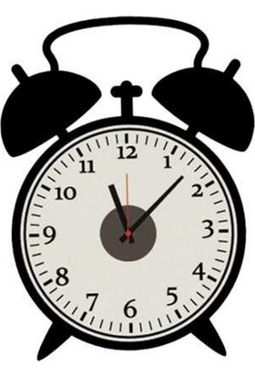 Retro Saat Tasarımlı Duvara Yapışan Sticker Saat