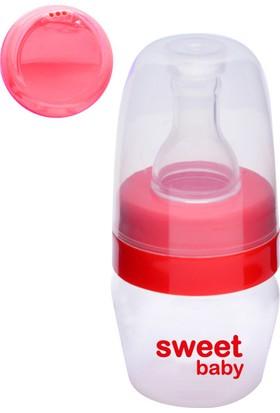 Sweet Baby Biberon ve Suluk Kapaklı Alıştırma Seti 30ml Kırmızı