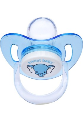 Sweet Baby Silikon Damaklı Emzik 6-18 Ay Mavi