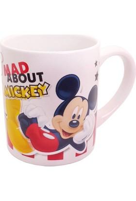 Mickey Mouse Desenli Çift Taraflı Porselen Kupa Bardak
