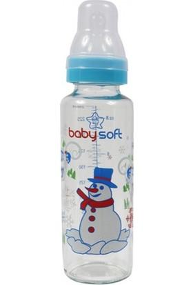 Baby Soft Klasik Cam Biberon 250ml Mavi