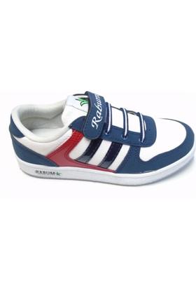 Rabum Clever Beyaz Cırtlı Çocuk Spor Ayakkabı