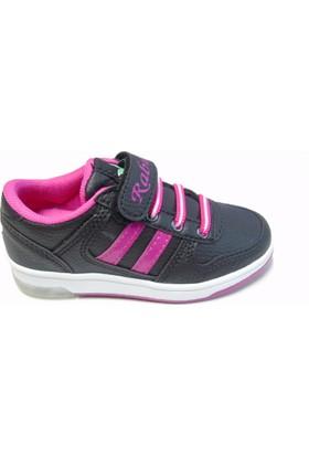 Rabum Clever Siyah - Fuşya Cırtlı Çocuk Spor Ayakkabı