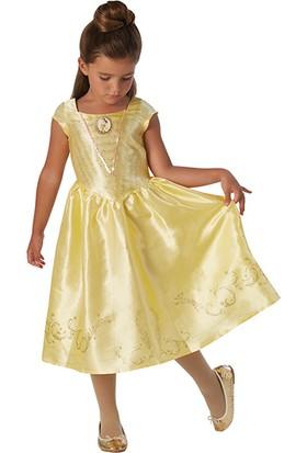 Lisanslı Disney Princess Belle Sarı Kostüm 3 - 4 Yaş