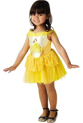 Lisanslı Disney Princess Belle Balerin Sarı Kostüm 3 - 4 Yaş