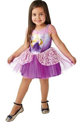 Lisanslı Disney Princess Rapunzel Balerin Mor Kostüm 3 - 4 Yaş