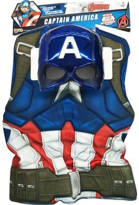 Lisanslı Captain America Avengers Kostüm Standart