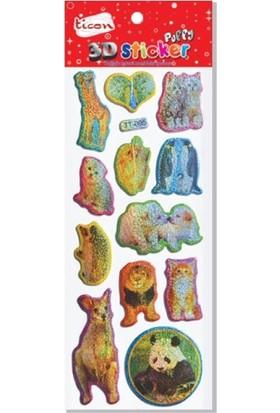 Ticon 177573 3D Puffy Sticker
