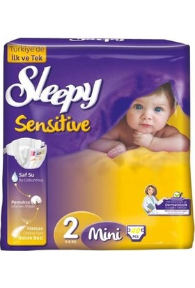 Sleepy Sensitive Mini 2 Beden 3-6 Kg 40'lı
