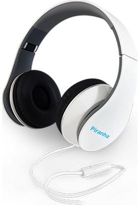 Piranha 2101 Stereo Kablolu Mikrofonlu Kulaklık Beyaz