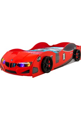 Mob Pazar Arabalı Yatak GT Model Kırmızı