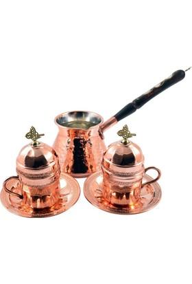 Copperbull Otantik 2'Li Türk Kahvesi Ve Espresso Fincan Kupa Seti