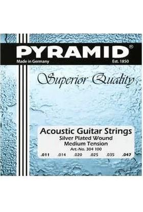 Pyramid Akustik Gitar Teli 304100 Silver Plated Wound Medium Tension