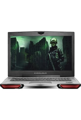 "Casper Excalibur G860 Gaming Intel Core i7 7700HQ 8GB 1TB + 128GB SSD GTX1060 Freedos 17.3"" FHD Taşınabilir Bilgisayar G860.7700-8190X"