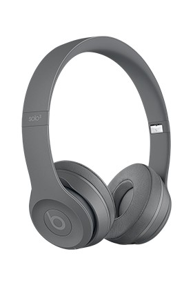 Beats Solo3 Wireless On-Ear Headphones - Neighborhood Collection - Asphalt Grey - MPXH2ZE/A