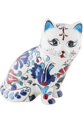 El Yapımı Seramik Biblo Kedi