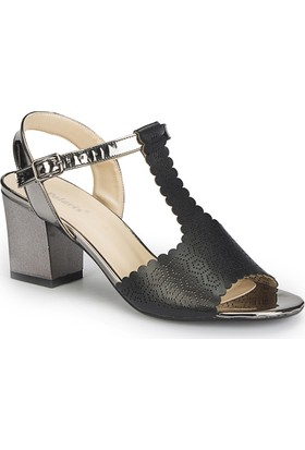 Polaris 81.309864.Z Siyah Kadın Sandalet