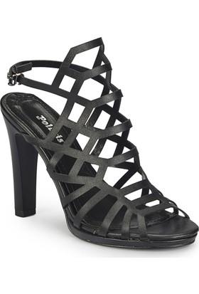 Polaris 81.311227.Z Siyah Kadın Sandalet