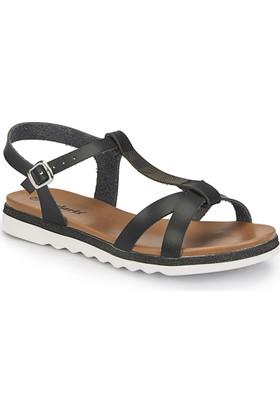 Polaris 81.311491.Z Siyah Kadın Sandalet