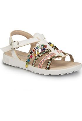 Polaris 81.311500.Z Beyaz Kadın Sandalet