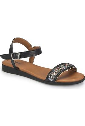 Polaris 81.311516.Z Siyah Kadın Sandalet