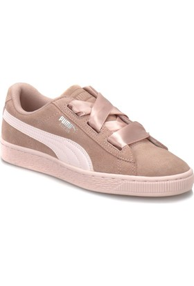 Puma Suede Heart Jewel Jr Bej İnci Rengi Kadın Deri Sneaker