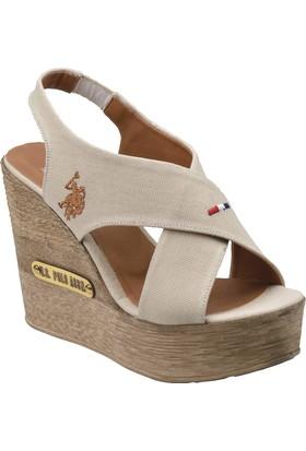 U.S. Polo Assn. A3350178 Bej Kadın Sandalet
