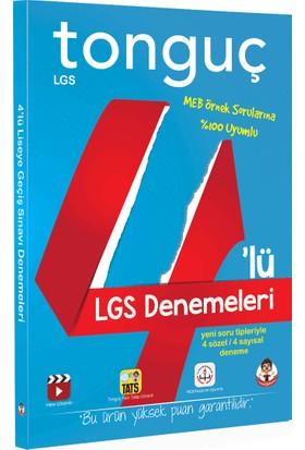 Tonguç Akademi Yayınları 8. Sınıf 4'lü Tam LGS Denemeleri