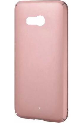 Microcase HTC U11 Luxury Slim Sert Köşeli Rubber Kılıf + Tempered Cam