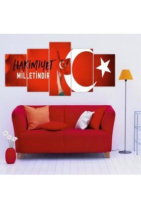 Printix Hakimiyet Milletindir Kırmızı Dekoratif Mdf Tablo