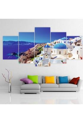 Printix Yunan Adası Manzarası Dekoratif Mdf Tablo