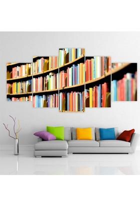 Printix Rafdaki Kitaplar Dekoratif Mdf Tablo
