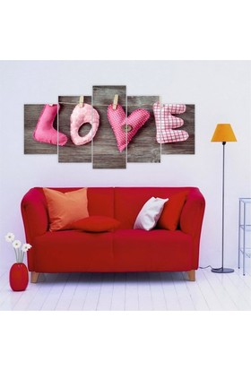 Printix Pink Love Dekoratif MDF Tablo
