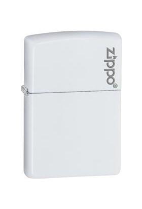 Zippo White Matte Logo Benzinli Çakmak / 214 ZL