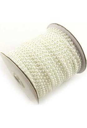 Hobiniyarat Şerit İnci Yarım Beyaz (4 mm - 5 Metre)