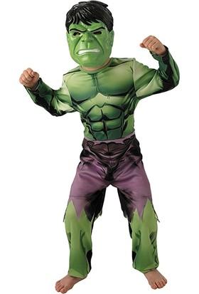 Lisanslı Avengers Hulk Kostüm L Beden 7-8 Yaş