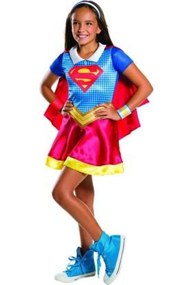 Lisanslı Dc Supergirl Kostüm M Beden 5-7 Yaş