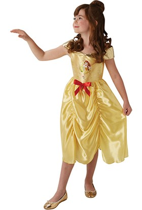 Lisanslı Disney Princess Belle Sarı Kostüm 2L Beden 7-8 Yaş