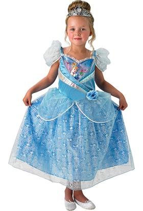 Lisanslı Disney Princess Cinderella Mavi Kostüm M Beden 5-6 Yaş