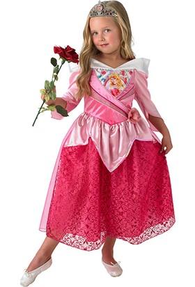 Lisanslı Disney Princess Uyuyan Güzel Pembe Kostüm L Beden 7-8 Yaş